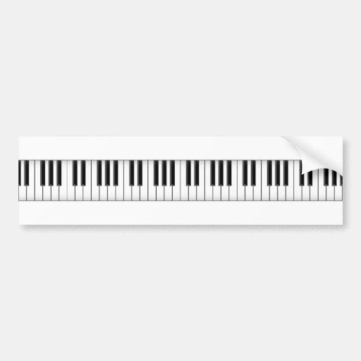 Keyboard / Piano Keys: Bumper Stickers