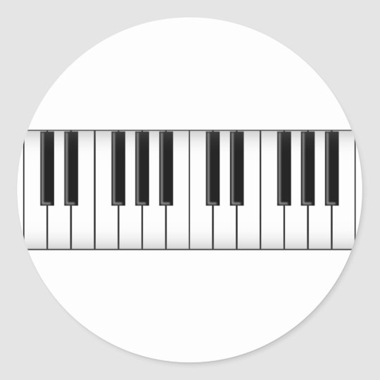 Keyboard / Piano Keys: Classic Round Sticker