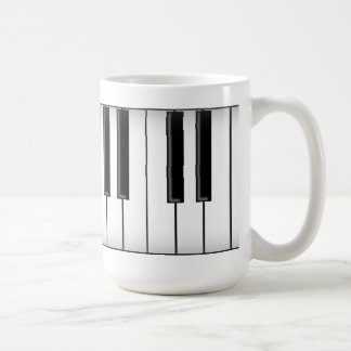 Keyboard / Piano Keys: Coffee Mug