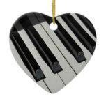 Keyboard Piano Keys Music Instrument Creative Ceramic Ornament