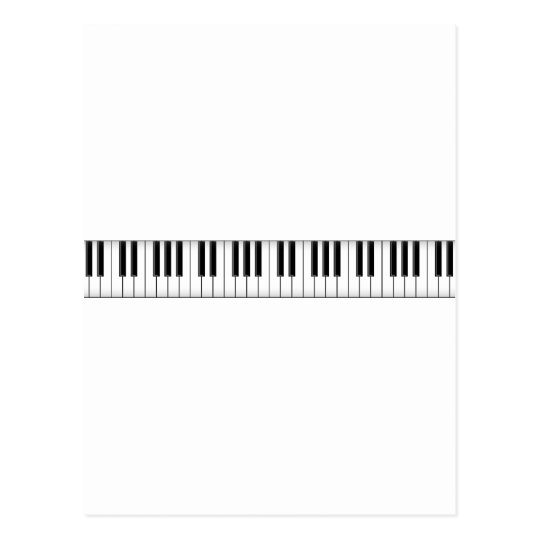 Keyboard / Piano Keys: Postcard