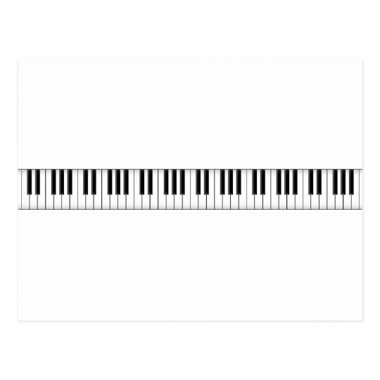 Keyboard / Piano Keys: Postcard