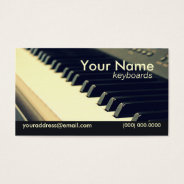 Keyboard Player Business Card at Zazzle