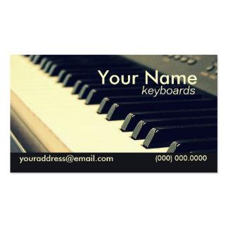 Keyboard Player Business Card