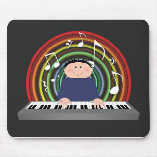 Keyboard player mouse pad