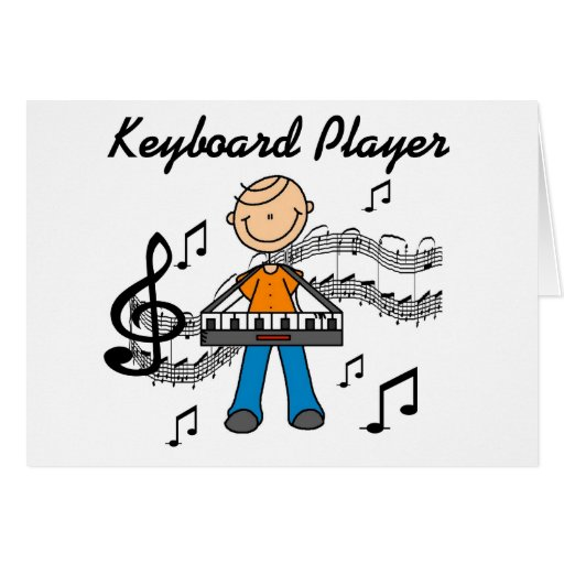 Keyboard Player Tshirts and Gifts Card