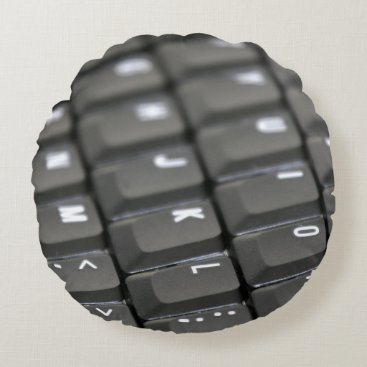 Professional Business Keyboard Round Pillow