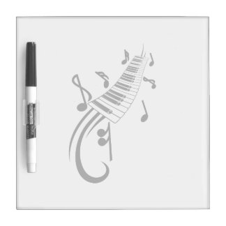 keyboard scroll and notes black.png dry erase board