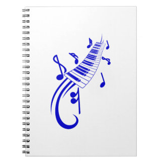 keyboard scroll and notes blue.png notebook