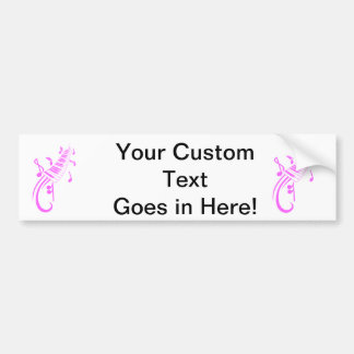 keyboard scroll and notes pink.png bumper sticker
