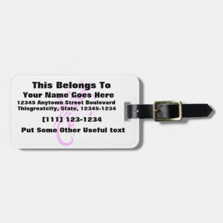 keyboard scroll and notes pink.png luggage tag
