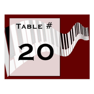 Keyboard Table Number card