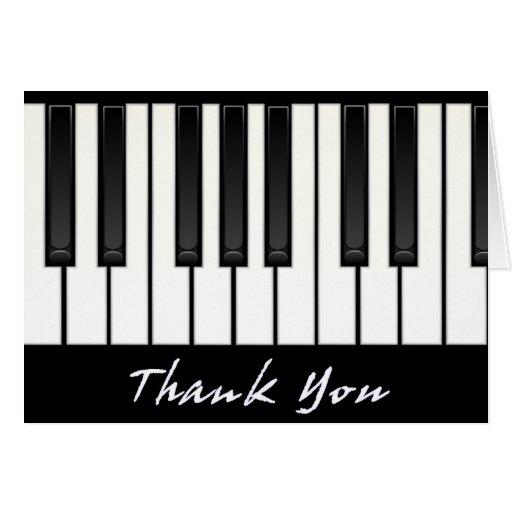 Keyboard - thank you greeting card