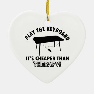 Keyboard  therapy design ceramic ornament