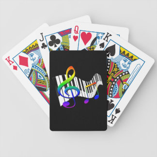Keyboard & Treble Clef Bicycle Playing Cards