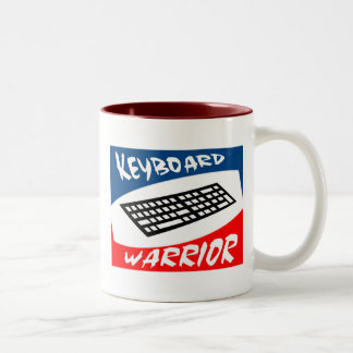 keyboard warrior Two-Tone coffee mug