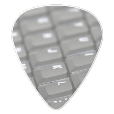 Professional Business Keyboard White Delrin Guitar Pick