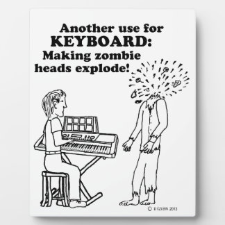 Keyboard Zombie Explode Photo Plaque