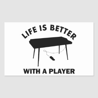 Keyboardist gift items rectangle sticker