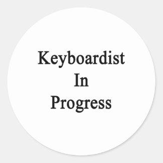 Keyboardist In Progress Round Sticker