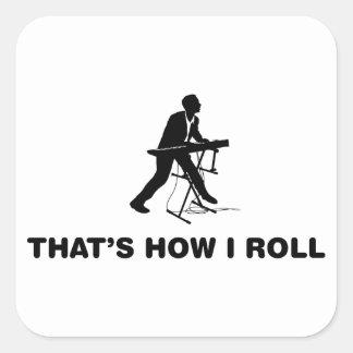 Keyboardist Square Sticker