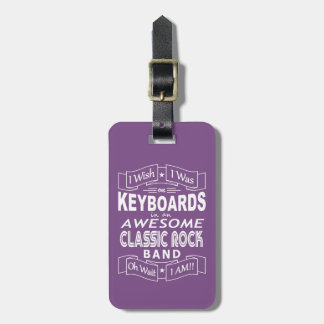 KEYBOARDS awesome classic rock band (wht) Bag Tag