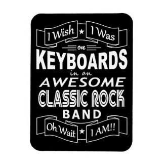 KEYBOARDS awesome classic rock band (wht) Magnet