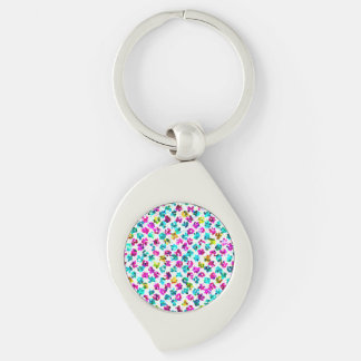 Keychain Abstract Floral Spots