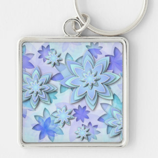 Keychain abstract lotus flowers