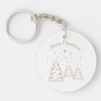 Keychain Acryl Christmas Landscape Gold–Own Color