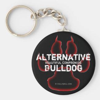 Keychain alternativa Bulldog Llavero Personalizado