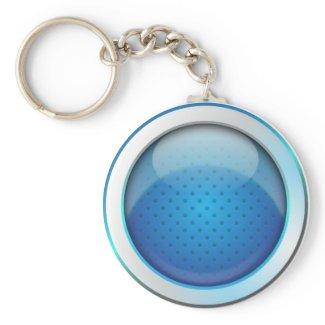 Keychain ball glossy blue keychain