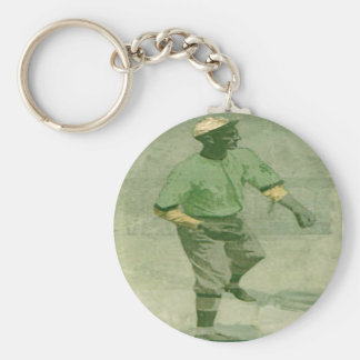 Keychain Baseball Art In Vintage Style