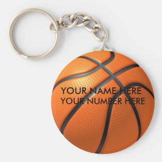 Keychain Basketball With Your Name, Your Number