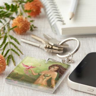 keychain Bird of paradise Acrylic Keychains