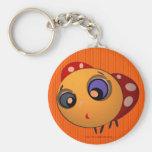 Keychain_Blue-eyed ladybug_Key_Chain_Zaltar Llavero Redondo Tipo Pin