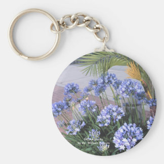 Keychain / Blue Flowers