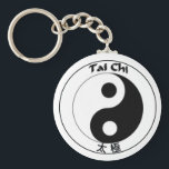 "Keychain button Tai Chi Logo<br><div class=""desc"">Keychain button style with Ying Yang symbol and Tai Chi text,  appears as Tai Chi logo.</div>"