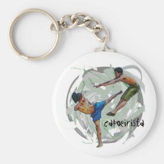 keychain, capoeirista basic round button keychain