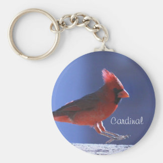 Keychain: Cardinal Landing Basic Round Button Keychain