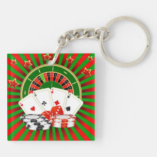 Keychain Casino. Composition on gamblings.