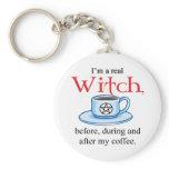 keychain Coffee Witch