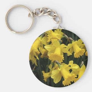 """Keychain, """"Daffodil Mass"""" Basic Round Button Keychain"""