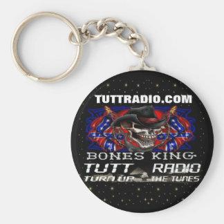 Keychain de los huesos de Tutt de rey de radio Llavero Redondo Tipo Pin