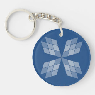 Keychain - Diamond Petals (2 sides)
