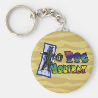 Keychain Dog Holiday Color