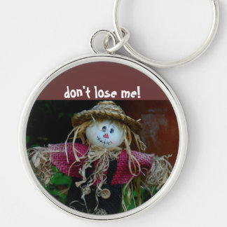 """Keychain, """"Don't Lose Me"""" Silver-Colored Round Keychain"""