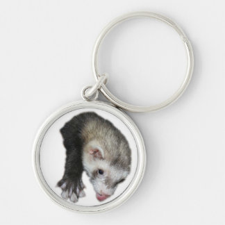 Keychain Ferret with Tongue Sticking Out