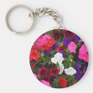 Keychain-Flowers-Pink, Purple, Red, & White Keychain