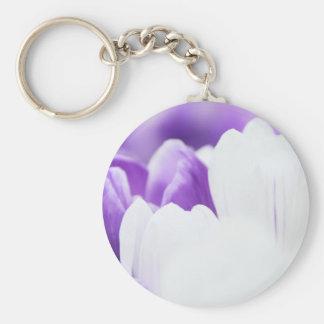 Keychain-Flowers-Purple & White Flower Keychain